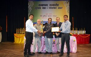 Receiving Award and Certificate from BHEL